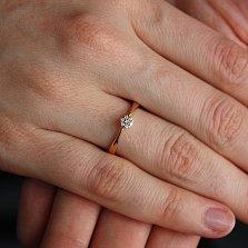 Кольцо из красного золота с бриллиантами Афродита