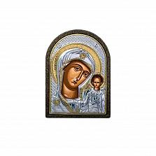 Икона серебро Казанской Божьей Матери