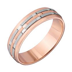 Обручальное кольцо в комбинированном цвете золота 000001609
