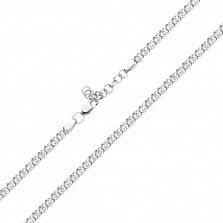 Серебряная цепочка Дженифер с фианитами фантазийного плетения