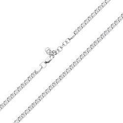 Серебряная цепочка с фианитами фантазийного плетения 000121332