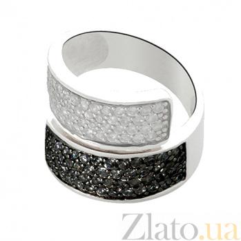 Кольцо из серебра Фантазия с кристаллами Swarovski 10000021