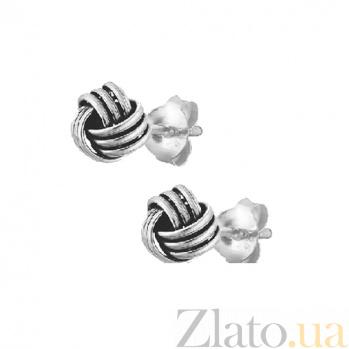 Серебряные сережки-гвоздики Секрет SLX--С5/064