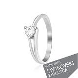 Серебряное кольцо Айлин с цирконием SWAROVSKI ZIRCONIA