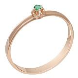 Кольцо в красном золоте Лючия с изумрудом
