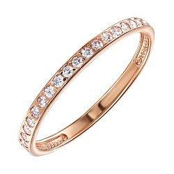 Кольцо из красного золота с цирконием Swarovski 000138367