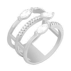 Кольцо из серебра Эльвита с фианитами 000033842