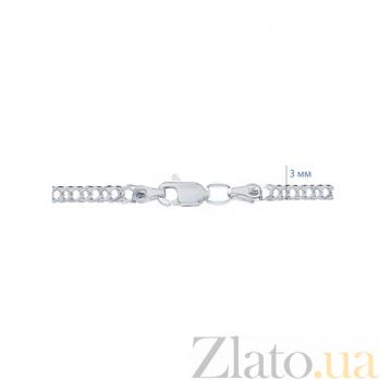 Серебряная цепочка Ромб родированная AQA--90106206041