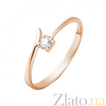 Кольцо в красном золоте Фернанда с бриллиантом 000079254