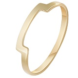 Кольцо Периметр в желтом золоте