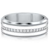 Обручальное кольцо из белого золота Тайна: Вдохновение