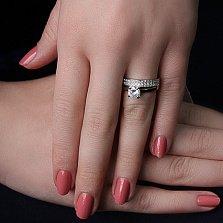 Серебряное кольцо Лика с фианитами