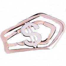 Золотой зажим для денег Доллар