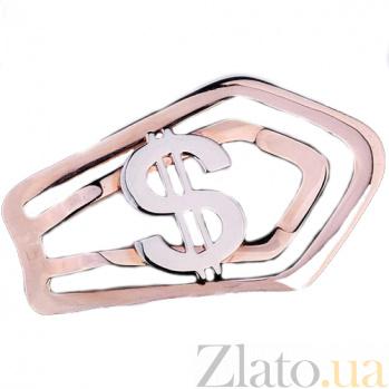 Золотой зажим для денег Доллар ONX--заж00062