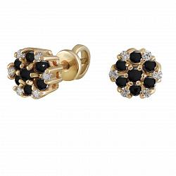 Серьги из желтого золота Сильвия с бриллиантами