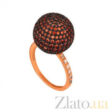 Кольцо из красного золота Сфера с фианитами VLT--Т1135-2