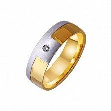Золотое обручальное кольцо Amor omnibus idem