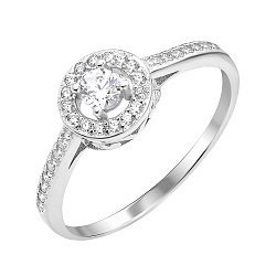 Серебряное кольцо с фианитами 000112673