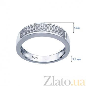 Серебряное кольцо с усыпкой из циркония Галактика AQA--W-0041-R