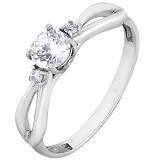 Серебряное кольцо Чара с цирконием