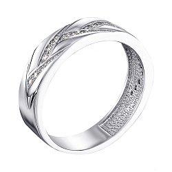Обручальное кольцо из белого золота с бриллиантами 000138811