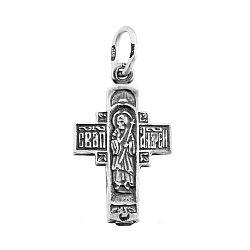 Серебряный крестик Апостол Андрей 000067074