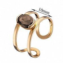 Кольцо из красного золота Альбина с раухтопазом