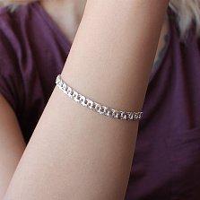 Серебряный браслет Рондо с алмазной гранью, 5мм