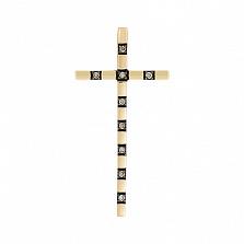 Золотой крестик Сафина с бриллиантами