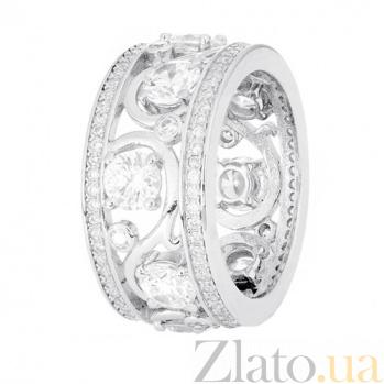 Кольцо из серебра Ампир с фианитами 000030979