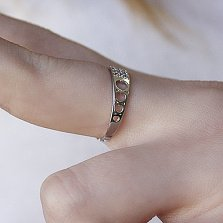 Серебряное кольцо Альвен с фианитами