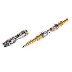 Подарочная серебряная ручка с бриллиантом и позолотой 000004339