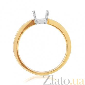 Золотая заготовка кольца под драгоценный камень  EDM--КД7560