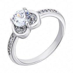 Серебряное кольцо с фианитами 000118400