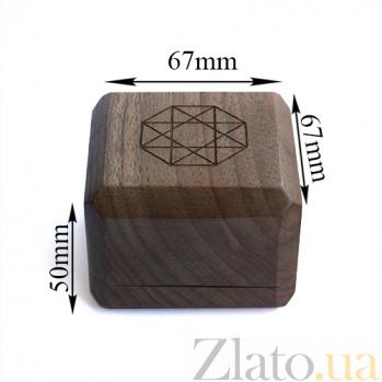 Брендовая деревянная упаковка Zlato для двух колец 000051620