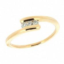 Кольцо из красного золота с бриллиантами Фани