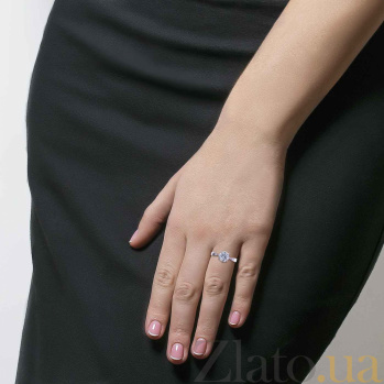 Серебряное кольцо с фианитом Love 000027179