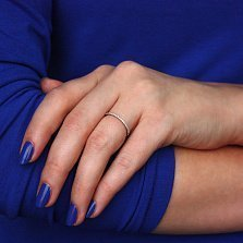 Кольцо в белом золоте Аюна с фианитами