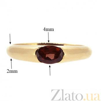 Золотое кольцо Зафира из красного золота с гранатом ZMX--RGn-15790_K