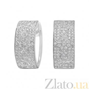 Золотые серьги с бриллиантами Нинет 000026622