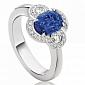кольцо Argile-Z с сапфиром и бриллиантами R-cjZ-W-1s-30d