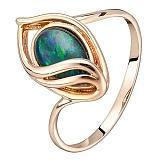 Золотое кольцо Всевидящее око с опалом (триплетом)