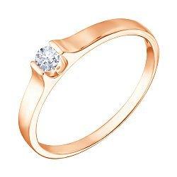Кольцо из красного золота с цирконием Swarovski 000070989