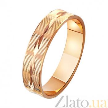 Золотое обручальное кольцо Вечное счастье TRF--411041