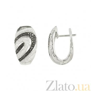 Золотые серьги с бриллиантами Сандра 1С759-0272