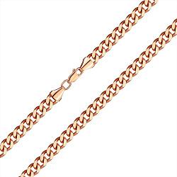 Браслет из красного золота в панцирном плетении 7мм, 000141486