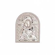 Икона серебряная Владимирская