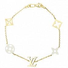Золотой браслет Лоурен в стиле Луи Виттон