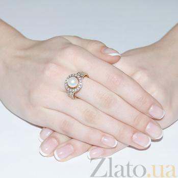 Кольцо из белого золота с фианитами Infinity 3522153
