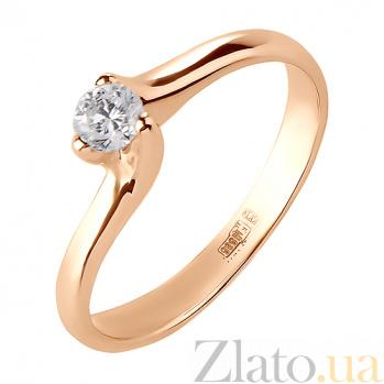 Кольцо из красного золота с бриллиантом Элья R0594/крас/бр